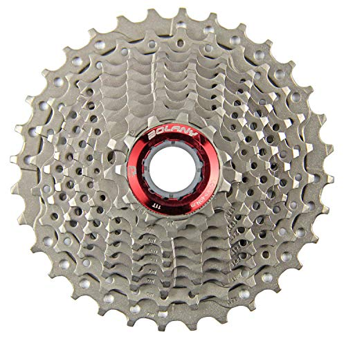 BOLANY 10 Speed Cassette,MTB Cassette 10 Speed, Fit for Mountain Bike, Road Bicycle,Including 22mm Extender - for SRAM Shimano-Type splined freehub Body (Silver 11-32T)