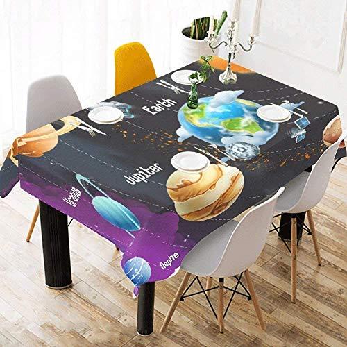 LIS HOME Mantel Systerm Solar de Planetas Decoración para el hogar, Milk Way Sun Neptune Cubierta de Escritorio de Tela Moderna Mantel para Comedor Decoración de Fiesta de Cocin