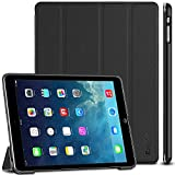 EasyAcc Hülle für iPad Air, Ultra Slim Hülle Hülle Schutzhülle PU Lederhülle mit Standfunktion/Auto Sleep Wake Up Funktion Kompatibel für iPad Air 2013 (Modellnummer A1474 A1475 A1476) - Schwarz