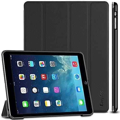 EasyAcc Hülle Kompatibel mit iPad Air, Ultra Slim Hülle Hülle Schutzhülle PU Lederhülle mit Standfunktion/Auto Sleep Wake Up Funktion Kompatibel mit iPad Air 2013 (A1474 A1475 A1476) - Schwarz