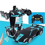 Función de deformación CARGABLE Robot Cars Kit DE Juego 1:14 Scala Control Remoto Coche Un Solo botón Transformación de Juguetes Juego de Juguetes Juego de Historia para Adultos 6+ años de Edad.