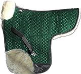 ENGEL GERMANY Tapis de selle DE LUXE en peau de mouton couleur coton vert fourrure bleu (Sadek 3) Concours complet d'équitation (CCE) Combinez-vous avec 12 coleur de peau de mouton