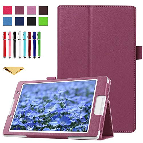 TianTa Case for Galaxy Tab 4 7.0 SM-T230, PU Leather Slim Folding Stand Cover Case with Auto Sleep/Wake for Samsung Galaxy Tab 4 7-inch Tablet, Models SM-T230, SM-T231, SM-T235, Purple