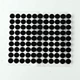 ZHAOFANGSTORE 102 pares de coloridos velcros puntos de 15 mm cinta adhesiva disco fuerte pegamento autoadhesivo cierre DIY costura redondo gancho Loop Moneda (color: negro)