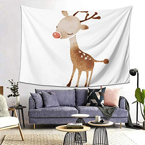 Rudolf The Reindeer Tapestry Art Tapestry Handicraft Party Decoration Banner Garland Event Banner and Home Decoration