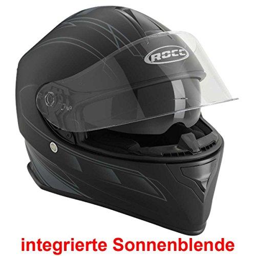 ROCC 431 Integralhelm, Farbe matt-schwarz-silber, Größe L(59/60)