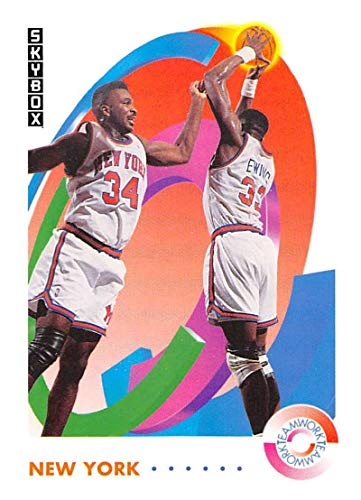 1991-92 SkyBox Basketball #476 Patrick Ewing/Charles Oakley New York Knicks TW Official NBA Trading Card