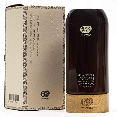 Whamisa Organic Seeds Sub-Acid Hair Shampoo for Dry Scalp Hair, Itchy, Dandruff - Moisturizing, Hydration, Gloss, Shine 16.91 fl. oz, Sulfate-Free, Natural Pregnancy Safe Vegan Shampoo RENEWAL