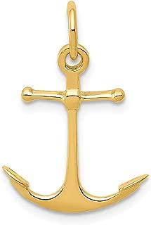 gold anchor charm