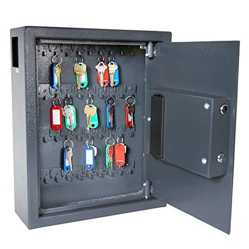 DuraBox 40 Keys Steel Safe Cabinet with Digital Lock - Electronic Key Safe with Drop Slot for Key Returns and Safe Storage (Dark Grey) Photo #7