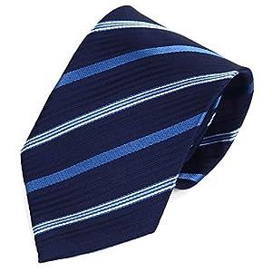 (willmatch) ネクタイ ビジネス 面接 就活 就職活動 リクルート 用 ストライプ ネイビー ブルー 紺青 メンズ a231 (【1本】 Style-D)