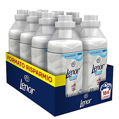 Lenor Ammorbidente Lavatrice Concentrato Baby, 184 Lavaggi (8 x 23), Profumo Delicato, Ideale per Pelli Sensibili, Ideale per Neonati, Ipoallergenico, Maxi Formato