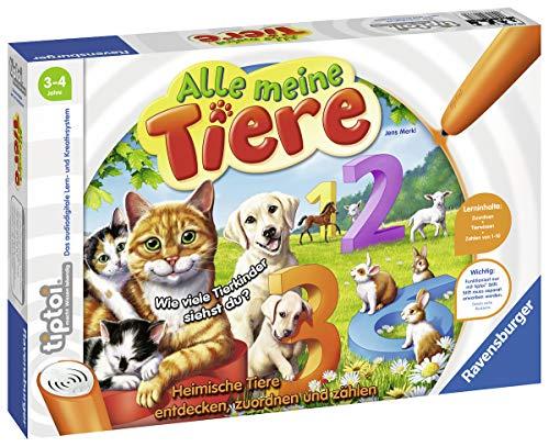 """Ravensburger tiptoi 00776 - """"Alle meine Tiere"""" / Spiel von Ravensburger ab 3 Jahren / Lerne spielerisch die Zahlen von 1 bis 10 mithilfe heimischer Tiere"""