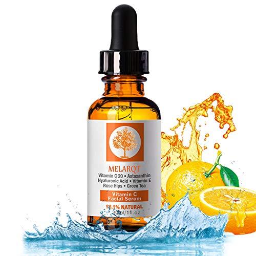 Vitamin C Serum, Anti-Aging Feuchtigkeitscreme für Gesicht & Haut, Anti Falten und Pickelmale, Booster Gesichtsserum mit organischen Inhaltsstoffen für Gesicht, Dekolleté und Körper