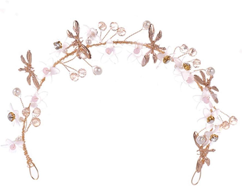 AA-SS- Wohombres Headpiece Tiara Europea y Americana de Cristal Flor de Cabello Tiara de Rendimiento para nios Hermosa Flor Diadema joyería Nupcial