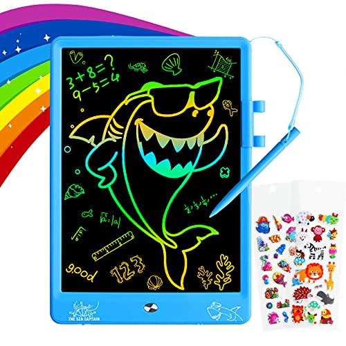 ZMLM Gifts for 3-12 Years Old Boys - 10 Inch LCD Writing Doodle Tablet Reusable Drawing Board for Kid Girl Toddler Teen Age 3 4 5 6 7 8 9 Preschool Activity Toy Christmas Game