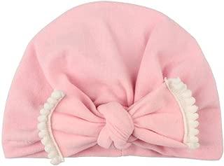 ❤️ Mealeaf ❤️ Cute Newborn Toddler Kids Baby Boy Girl Turban Cotton Beanie Hat Winter Warm Cap(Pink,One)