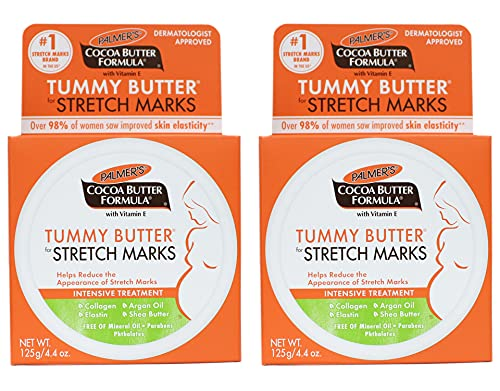 Palmers Cocoa Butter Formula Tummy Butter for Stretch Marks With Vitamin E - Pack of 2 For Unisex 4.4 oz Treatment