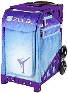 ZUCA Ice Dreamz Sport Insert Bag and Purple Frame with Built-in Seat and Flashing Wheels