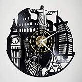 Reloj de pared con diseño moderno en 3D, diseño moderno, con texto 'I Love To Travel