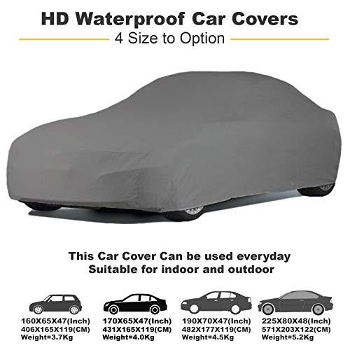 Shield Autocare Heavy Duty Waterproof Car Cover-Medium