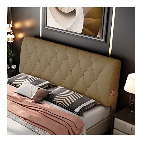 Lanrui Kopfteil aus Leder Abdeckung Nachtkissen Rückenwandkissen Bett Soft Bag Daybed Kissen Wedge Große Rückenkissen Lesekissen (Color : Champagne, Size : Haue)