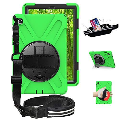 Samsung Galaxy Tab S5e Case, SM-T720 Case, [Hand Strap]360 Degree Rotating Kickstand Full-Body Impact Protective Case For Samsung Galaxy Tab S5e 10.5 Inch 2019(SM-T720/T725)Green