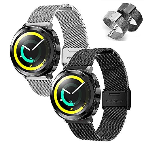 Lavender1 22mm Correa Metal Smartwatch Correa de Reloj 22mm de Acero Inoxidable...