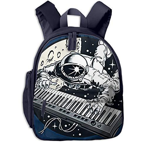 Kinderrucksack Kleinkind Jungen Mädchen Kindergartentasche Raumfahrer Astronaut, der Klavier spielt Backpack Schultasche Rucksack