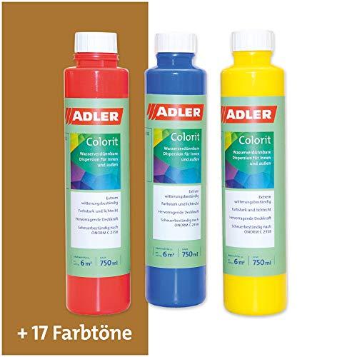 ADLER AVIVA Colorit-AF 501 Ocker 250 ml Volltonfarbe Abtönfarbe Wandfarbe
