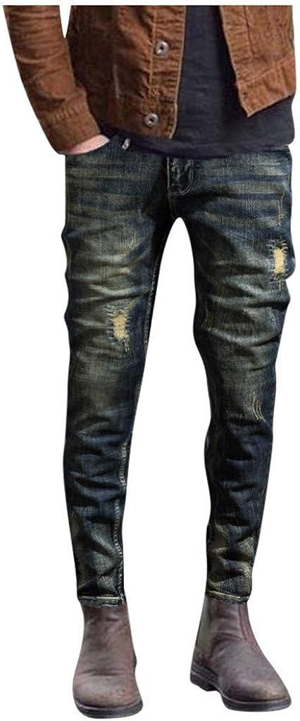 Skinny Jeans Pants for Men 2021 Summer Fashion Distressed Denim Pants Stretch Slim Tapered Biker Jean Pants - Limsea