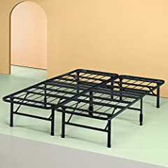14 inches high with 13 inches of Clearance under the frame for valuable under bed storage space No tools are required, assembles in minutes Best fit for average weight people Replaces bed frame and box spring Requires the use of SmartBase headboard b...