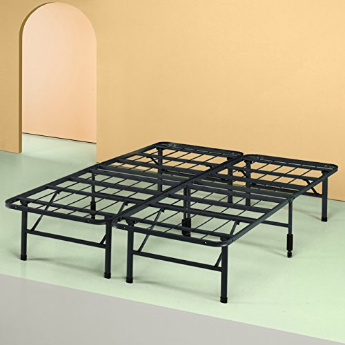 Zinus Shawn 14 Inch Metal SmartBase Bed Frame / Platform Bed Frame / No Box Spring Needed / Sturdy Steel Frame / Underbed Storage, Queen