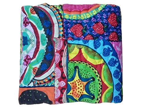 Yuvancrafts Multi Color Baby Quilt Warm and Snuggly Toddler Blanket Screen Printed Crib Comforter for New Born Boys & Girls Bed Covers