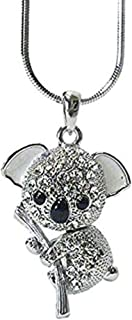 Lola Bella Gifts Crystal Koala Bear Pendant Necklace with Gift Box