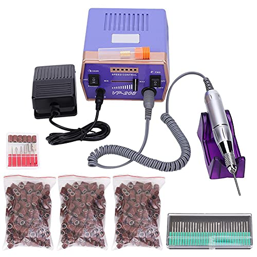 Electric Nail Drill Machine Professional 30000RPM Grinder Nails Filing DIY Tool with Handle and Foot Pedal Control