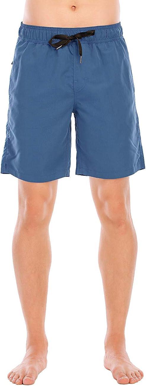 ADOREISM Men's Swim Trunks Quick Dry Drawsting Beach Shorts Boardshort with Pockets