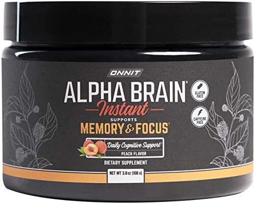 ONNIT Alpha Brain Instant Peach Flavor Nootropic Brain Booster Memory Supplement Brain Support product image