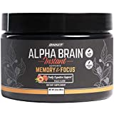 ONNIT Alpha Brain Instant - Peach Flavor - Nootropic Brain Booster Memory Supplement - Brain Support for Focus, Energy & Clarity - Alpha GPC Choline, Cats Claw, L-Theanine, Bacopa - Tub