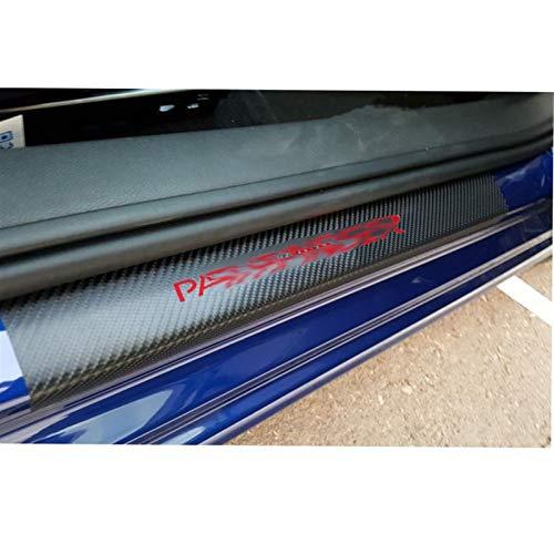 Bil välkommen tröskel Bilklistermärke passar för Pathfinder kolfiber Vinyl klistermärke Bildörr Sill Protector Tröskelplåt Car Tillbehör 4st (Color Name : Red)