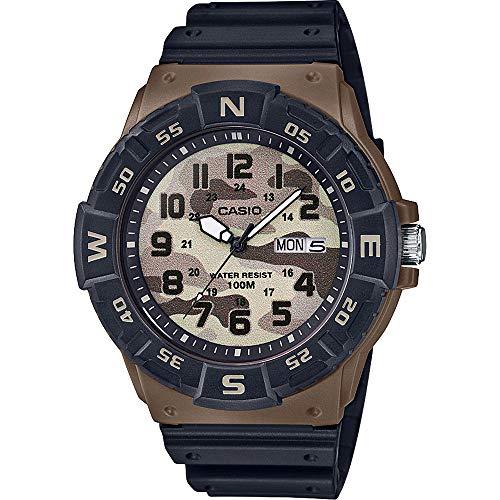 CASIO Herren Analog Quarz Uhr mit Harz Armband MRW-220HCM-5BVEF