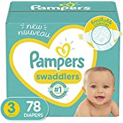 Diapers Size 3, 78 Count - Pampers Swaddlers Disposable Baby Diapers, Super Pack (Packaging May Vary)