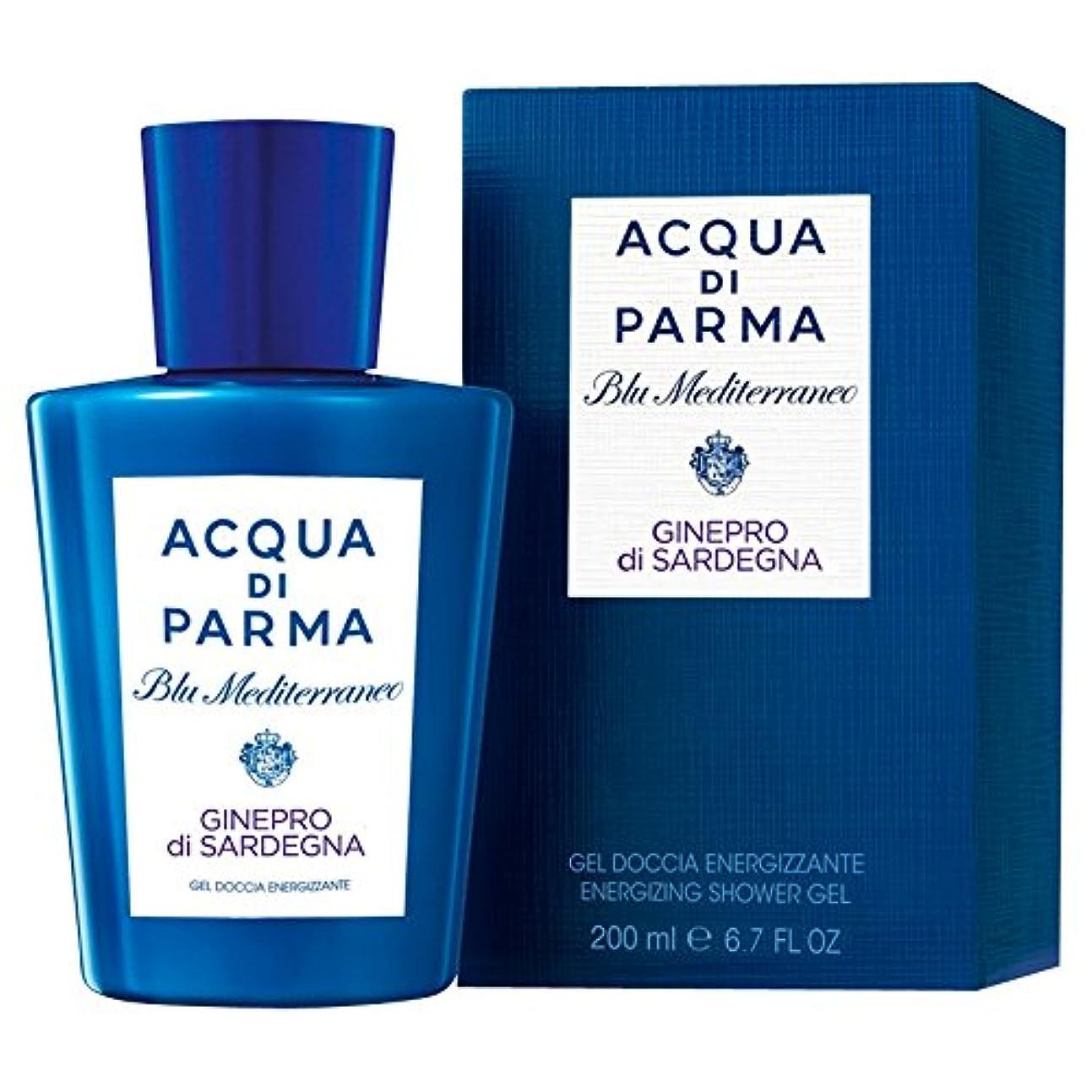 プレゼンテーション三角形どちらかアクア?ディ?パルマブルーメディGineproのディサルデーニャシャワージェル200ミリリットル (Acqua di Parma) (x2) - Acqua di Parma Blu Mediterraneo Ginepro Di Sardegna Shower Gel 200ml (Pack of 2) [並行輸入品]