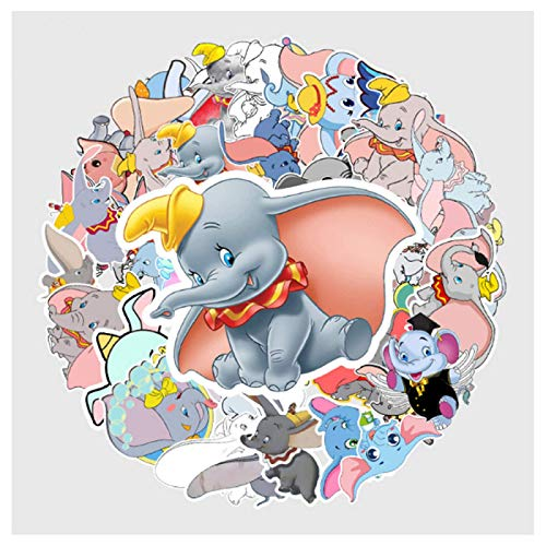 BAIMENG Flying Elephant Waterproof Graffiti Stickers Pvc Suitcase Guitar Cartoon Stickers Car Decoration Stickers 50Pcs