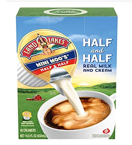 1-Land Max 47% OFF Genuine O Lakes Mini Moo`s Crea Half Serve 48-Single Dairy
