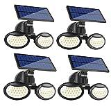 Luz Solar Exterior, 56 LED Foco Solar con Sensor de Movimiento...