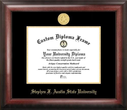 Campus Images TX945GED Max OFFicial store 90% OFF Stephen F Embossed Diploma Austin Frame