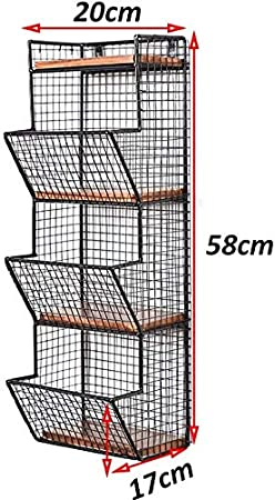 mensola cremagliera ripiano cubo separatore,Black Mensola fioriera in metallo rack