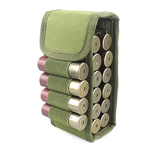 N \ A Tactical Shotgun Shell Holder Molle Shotshell Holder Buttstock Munición Bolsa de Soporte de Bala para Calibre 12/20 16 Rondas para cinturón Cintura Bolsa de Revista