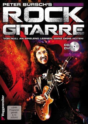 Rock gitaar (+CD) incl. plectrum (band 1) - van nul aan spelenderwijs leren, helemaal zonder noten met rocksongs van Jimi Hendrix, van Halen en AC/DC (zakboek) van Peter Bursch (noten/Sheetmusic)
